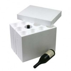 WINE BOX WITH POLYSTYRENE INSERT