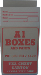 TEA CHEST CARTON STANDARD GRADE USED