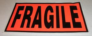 LABEL FRAGILE PACK OF 5